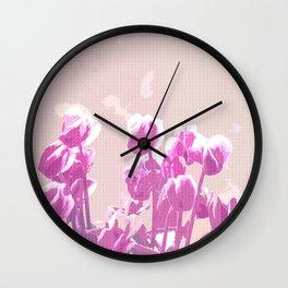 Cyclamens  Wall Clock