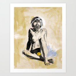 Woman | Hood. No.4 Breath Easy Art Print