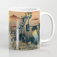 los angeles city skyline Mug