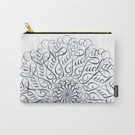 Mandala • Fuck it • grey Carry-All Pouch