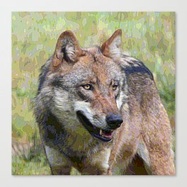 AnimalPaint_Wolf_20171201_by_JAMColors Canvas Print
