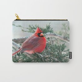 Red on Red (Northern Cardinal) Carry-All Pouch