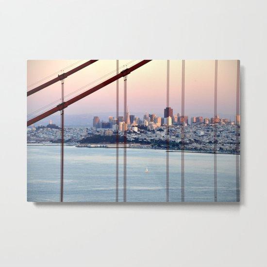 SAN FRANCISCO & GOLDEN GATE BRIDGE AT SUNSET Metal Print