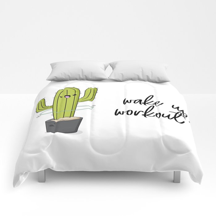 Cactus workout Comforters