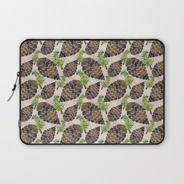 Watercolor Pine Cone Pattern Laptop Sleeve