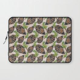 Watercolor Pine Cone Pattern Laptop Sleeve