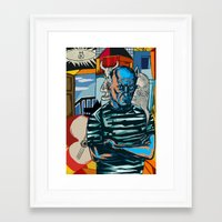 picasso Framed Art Prints featuring Picasso by Nicolae Negura