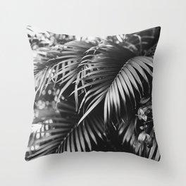 Moody Palms Throw Pillow