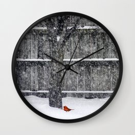 The Lone Cardnial Wall Clock