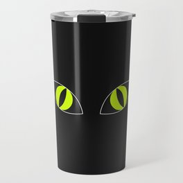 Cat Eyes - Halloween Illustration Travel Mug