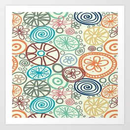 Wheels, Multi Art Print