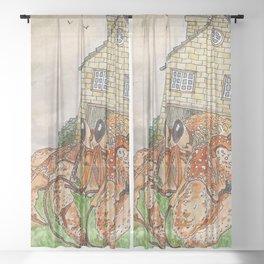 Hermit Apocalypse Sheer Curtain