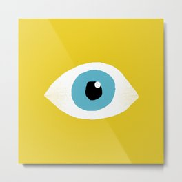 eye open Metal Print