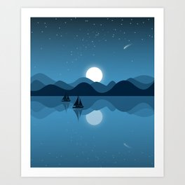 Seaside Dream Time Art Print