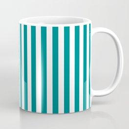 Vertical Stripes (Teal/White) Coffee Mug