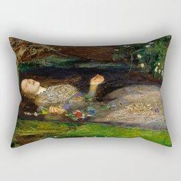 Ophelia - John Everett Millais Rectangular Pillow