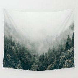 Foggy Forest 3 Wall Tapestry