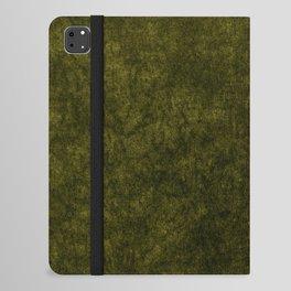 olive green velvet   texture iPad Folio Case