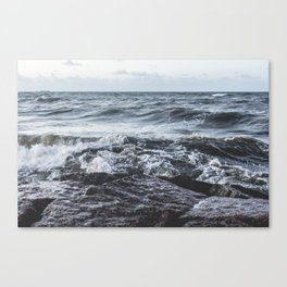 Rough Sea Canvas Print