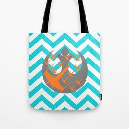 Wraith Squadron and Chevrons in Blue, Gray and Orange Tote Bag
