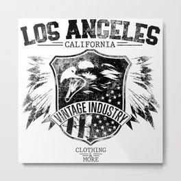 Los Angeles california clothing and more black Metal Print