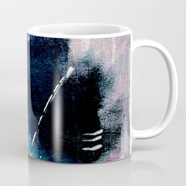 Meteor Shower - an abstract acrylic piece in blue and white Coffee Mug