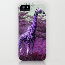 Wild Giraffe in Pink iPhone Case