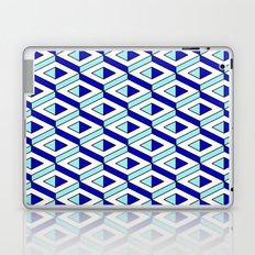 3d geometrical pattern in blue Laptop & iPad Skin