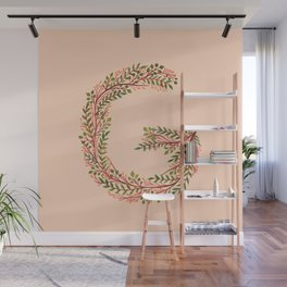 Leafy Letter G Wall Mural