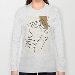 Abstract Face Long Sleeve T-shirt