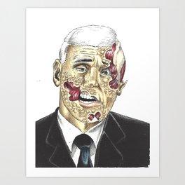 Zombie Mike Pence Art Print