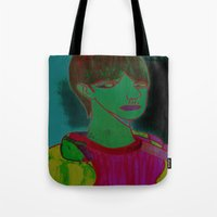 sam smith Tote Bags featuring Sam by Latidra Washington