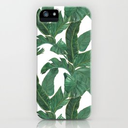 banana leaves pattern iPhone Case