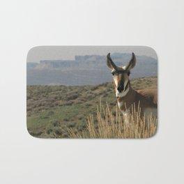 Wyoming Pronghorn Antelope Bath Mat