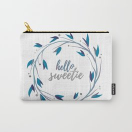 Hello Sweetie, Silver Wreath 2 Carry-All Pouch