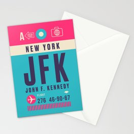 Retro Airline Luggage Tag - JFK New York Stationery Cards