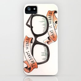 The Heart Wants What It Wants iPhone Case