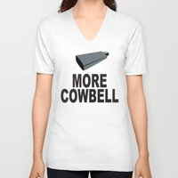 snl V-neck T-shirts featuring SNL More Cowbell by jekonu