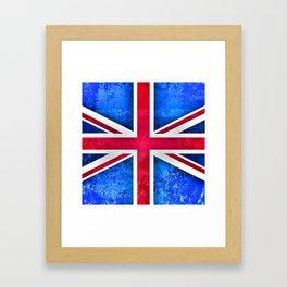 Grunge British Flag Framed Art Print