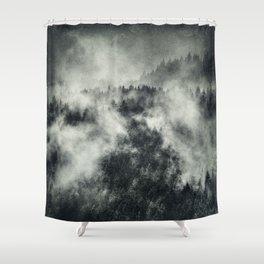 Recently // Dark Boogie Edit Shower Curtain