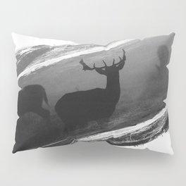 Oh Deer Black Pillow Sham