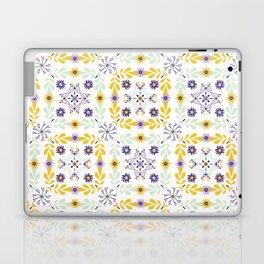 Floral Quilt Leaf Folk Vector Pattern Laptop & iPad Skin