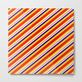 Team Colors,,,red,yellow and blue stripes Metal Print
