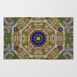 planet of the magic flower power Rug