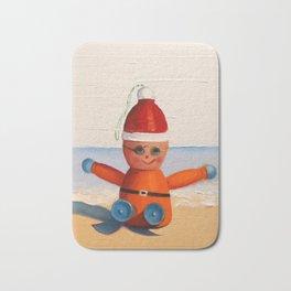 Orange at the Beach Bath Mat