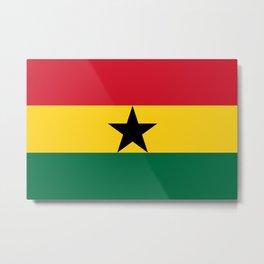 Flag of Ghana Metal Print