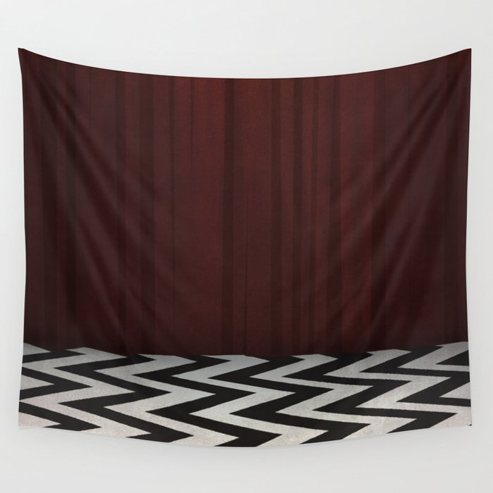 Black Lodge / Red Room Twin Peaks Wall Tapestry