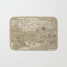 Vintage Map of Bermuda and Jamaica (1767) Bath Mat