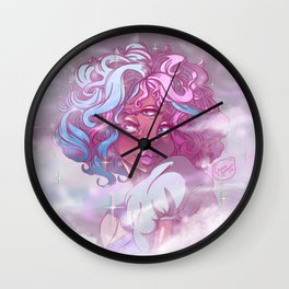Cotton Candy Mom Wall Clock
