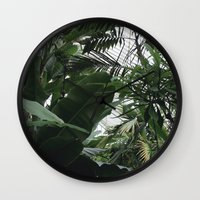 plants Wall Clocks featuring Plants by Cynthia del Rio
